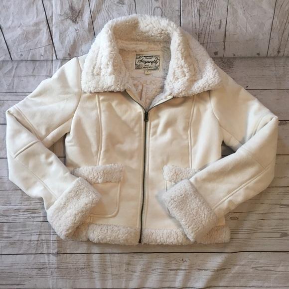 Sugarfly Jackets & Blazers - Ivory Sugarfly Jacket